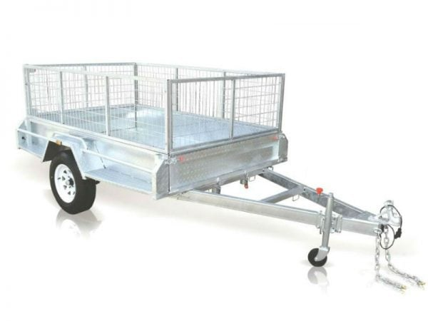 7 x 4 ft Premium Box Trailer with 600mm Cage