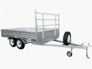 10 x 6 ft Heavy Duty Flat Deck Trailer 2 tonne