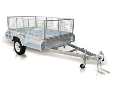 8 x 5 ft Premium Box Trailer with 600mm Cage