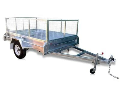 8 x 5 ft Standard Box Trailer with 600mm Cage