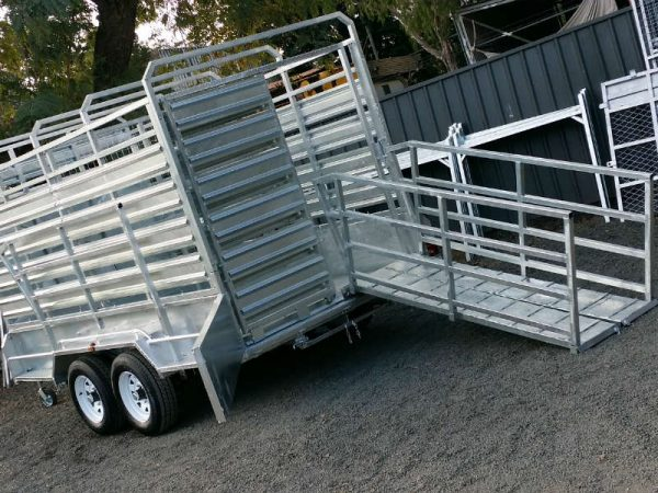 12 x 6 ft Tandem Cattle Float Trailer