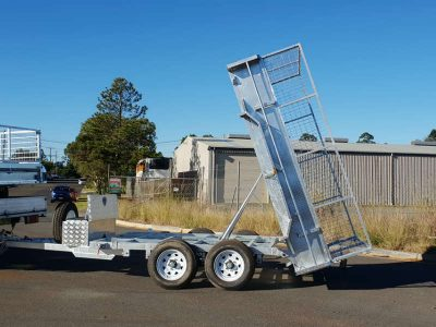 10 x 6ft Tandem Hydraulic Tipper Box Trailer - ATM 3500kg