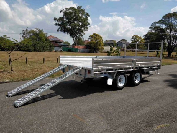 10 x 6 ft Flat Deck Trailer with Loading Ramps