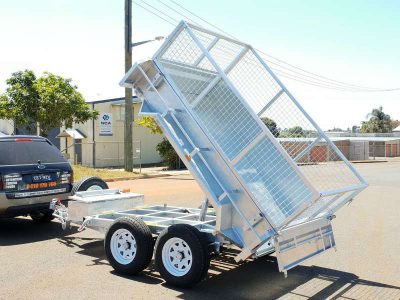 8 x 5ft Hydraulic Tipping Box Trailer