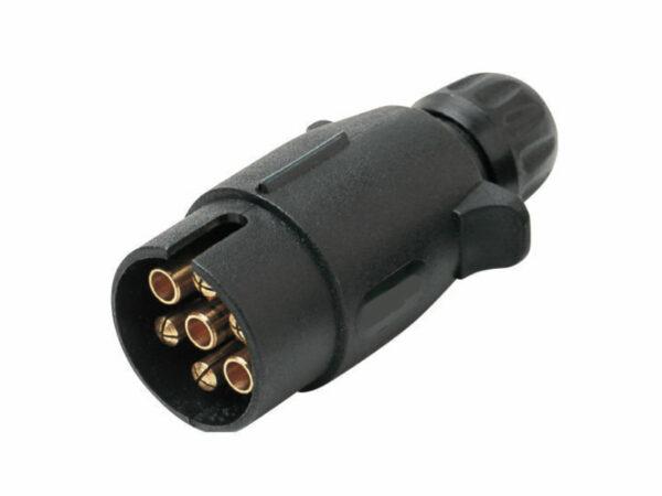 Trailer 7 Pin Large Round Plastic Plug