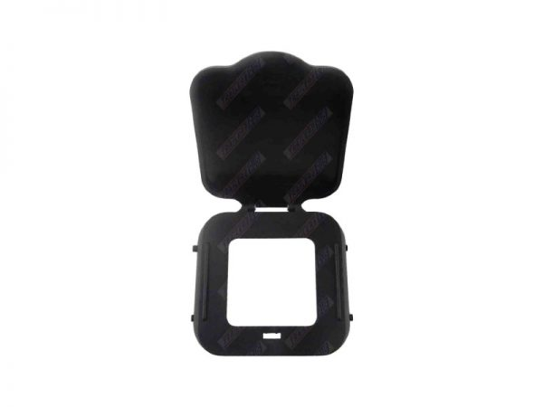 Black Hitch Receiver Cover with Hinged Lid