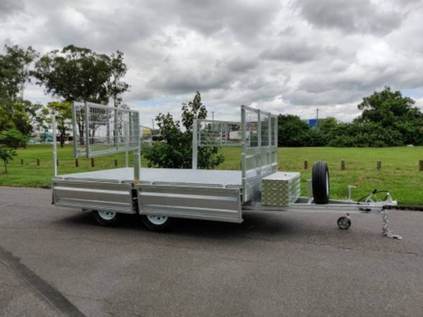 12 x 7ft Tandem Hydraulic Tipping Box Trailer with Loading Ramps