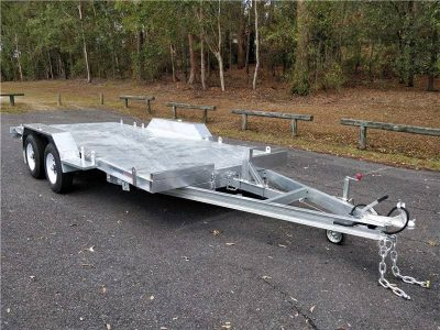 16.5 x 6.5ft Tandem Tilt Car Trailer