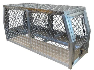 2 Door Aluminium Dog Cage Gullwing Tool Box