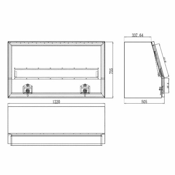 Aluminium Storage Tool Box - 1220 mm