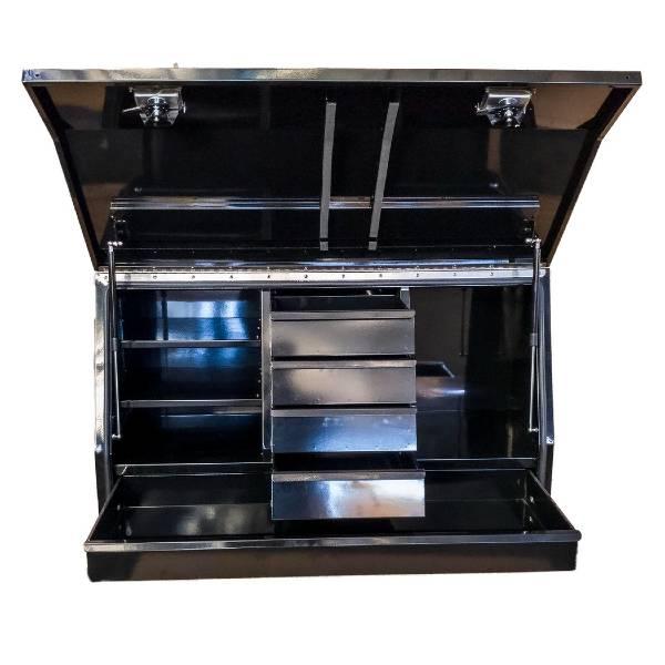 Black Steel 5 Drawer Tool Box - 1220 mm